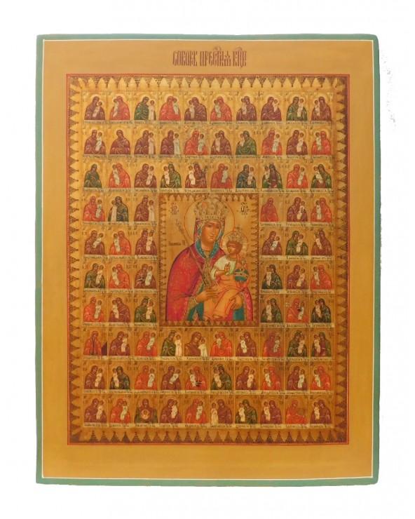 Icona sacra 85 tipi madre di Dio