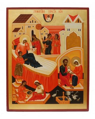 Icona Sacra dipinta Natività di Maria