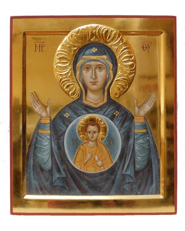 Icona dipinta Madre di Dio del Segno