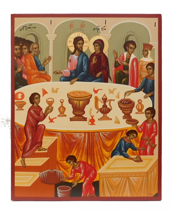 Icona dipinta Nozze di Cana