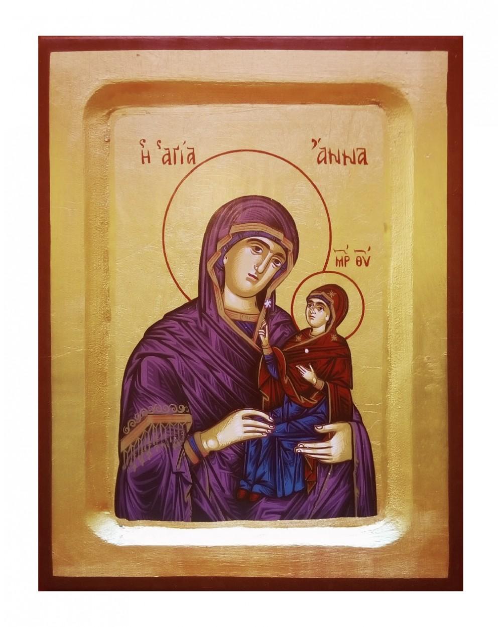Icona Sant'Anna con Maria