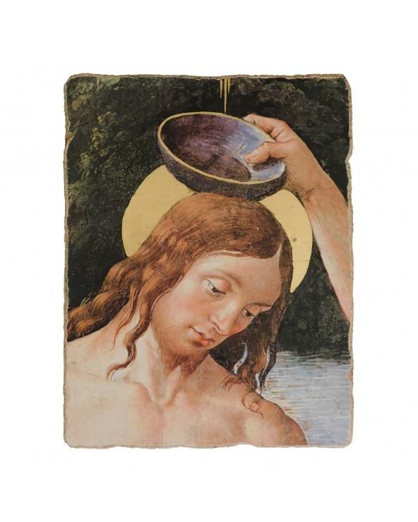 Battesimo di Gesù affresco