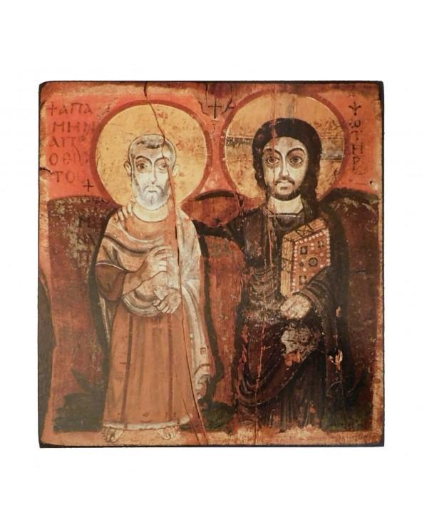Icona Cristo con San Mena