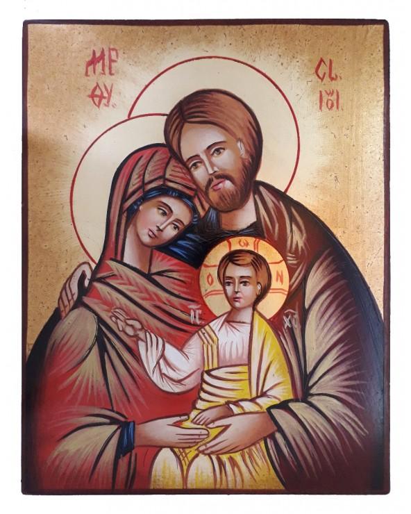 Icona Sacra Famiglia dipinta a mano