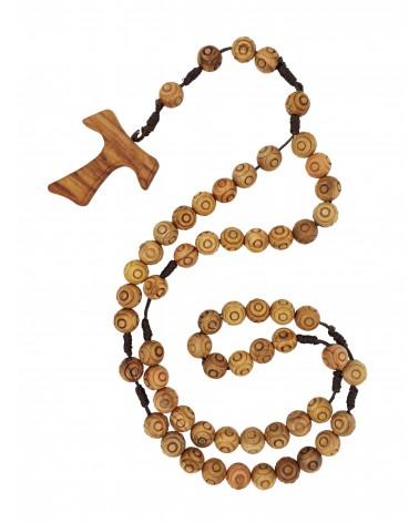 Rosario in legno d'ulivo di Gerusalemme