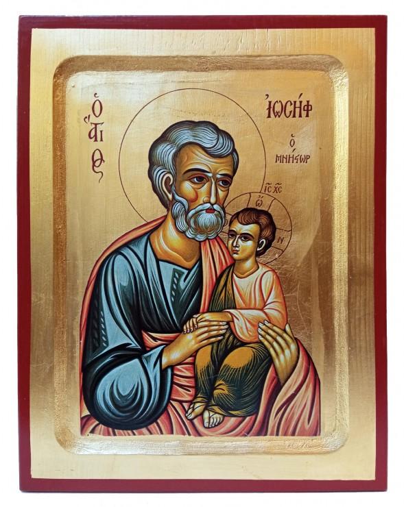 San Giuseppe icona sacra serigrafata dimensione grande