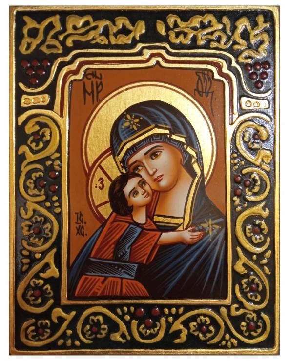 Madre di Dio di Vladimir con cornice
