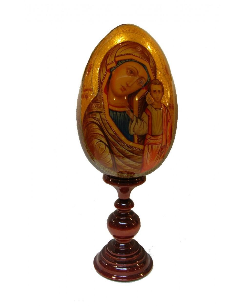 Uovo russo dipinto Madonna della Tenerezza