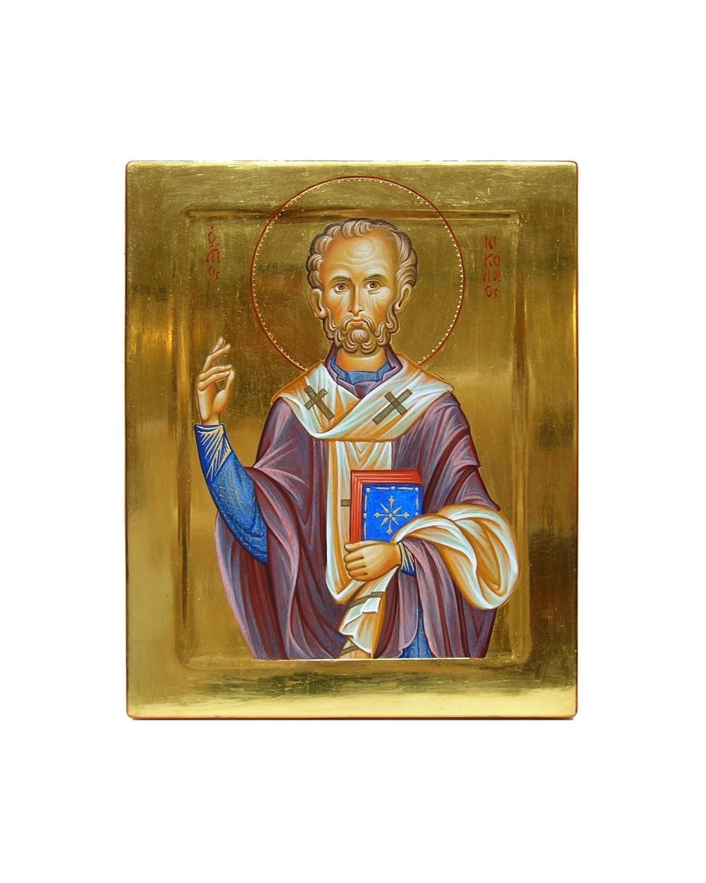 Icona sacra dipinta San Nicola